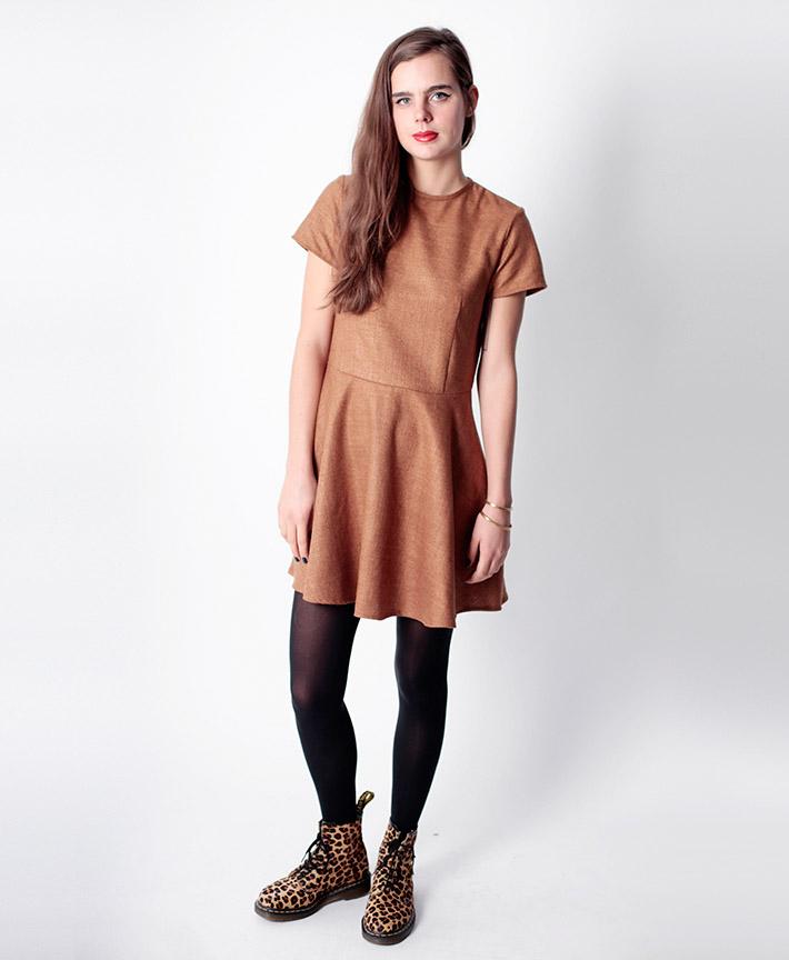 Dusen Dusen dámské hnědé šaty