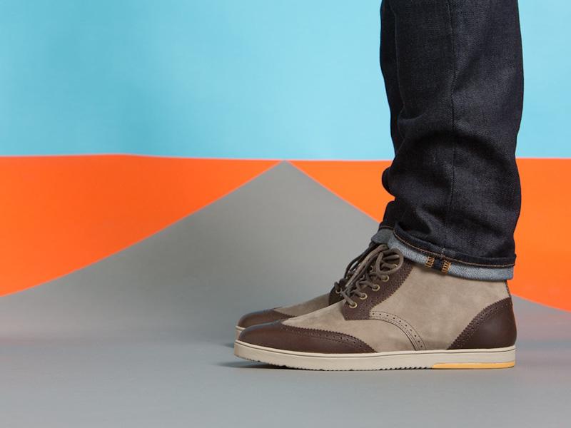 Clae – kotníkové boty pánské, kožené, hnědé