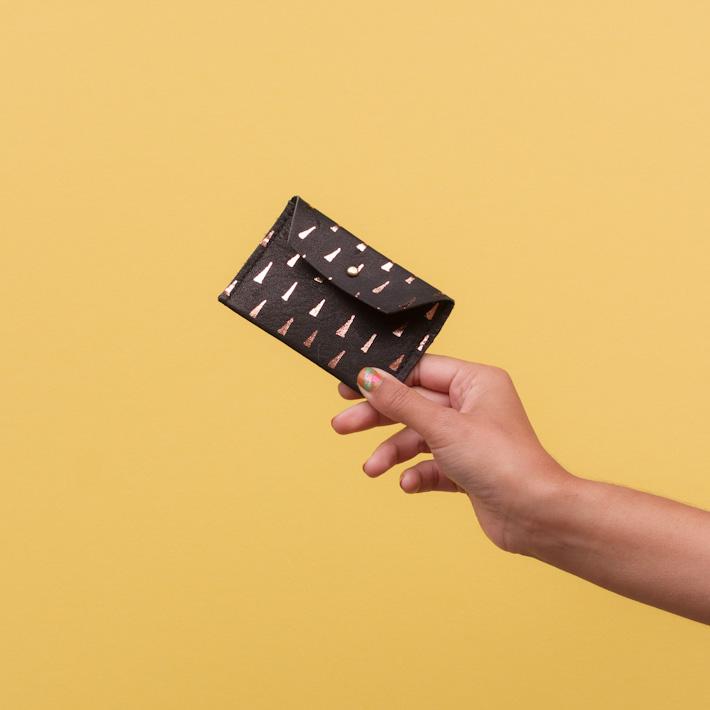 Georgie Cummings dámská kožená peněženka na mince, černá
