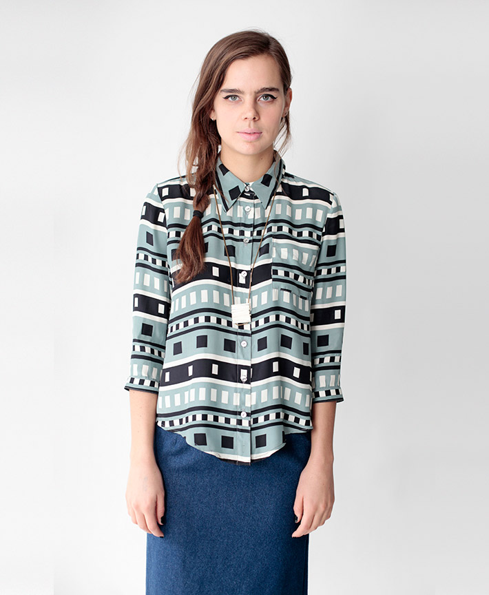 Dusen Dusen dámská košile, geometrický vzor