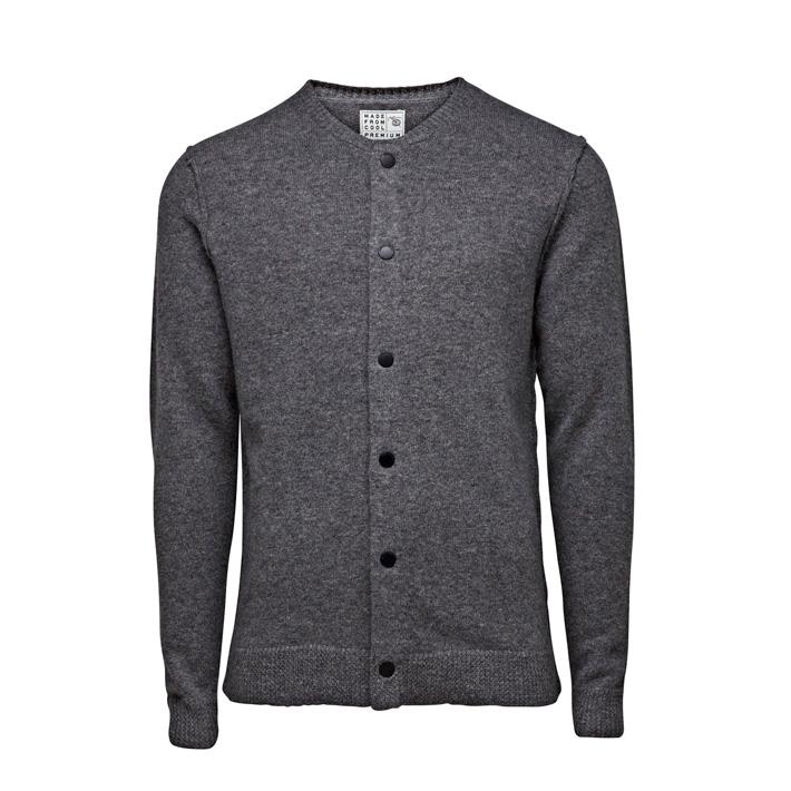 Jack & Jones luxusní pletený svetr pánský, se zapínáním pánský, šedý