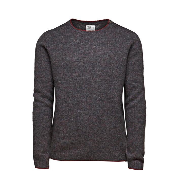 Jack & Jones luxusní pletený šedý svetr, pánský