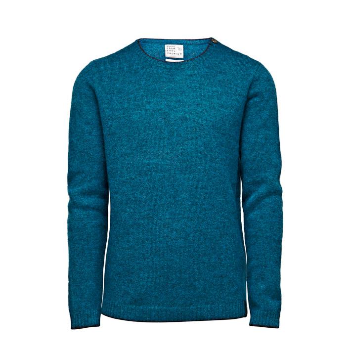 Jack & Jones luxusní pletený modrý svetr, pánský