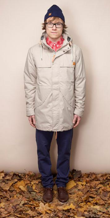 Ucon Acrobatics hnědo-modrá zimní bunda skapucí, pánská, pánské kalhoty