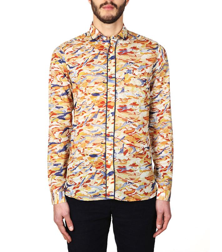 Commune de Paris pánská luxusní košile se vzorem