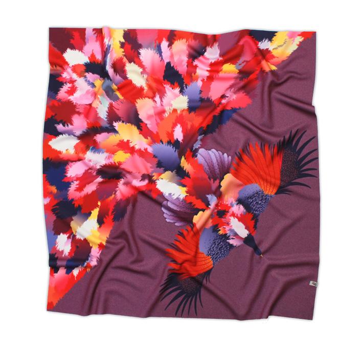 Retart šátek na krk, graphic scarf, Gurinova