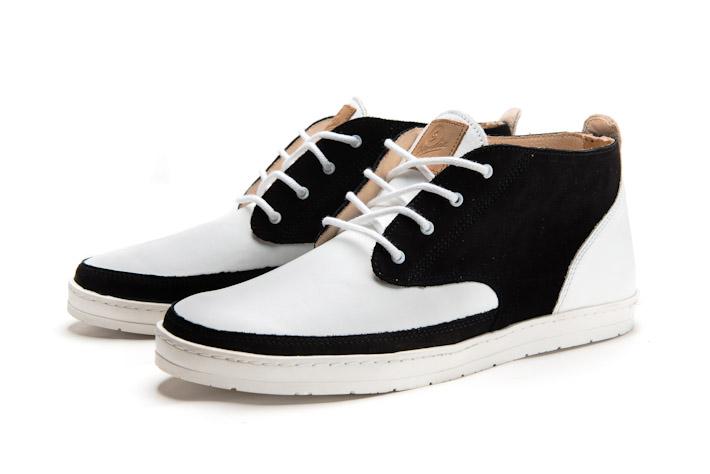 Splendix Shoes kotníkové boty bílo černé, kožené, pánské