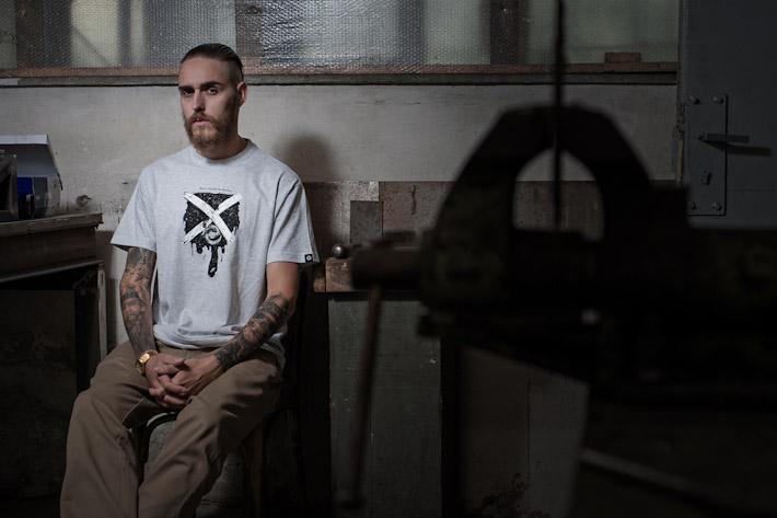 Youngprimitive šedé tričko spotiskem, pánské