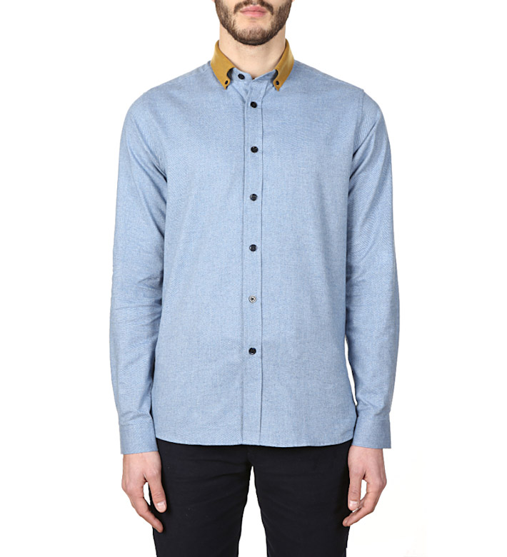 Commune de Paris luxusní modrá košile pánská
