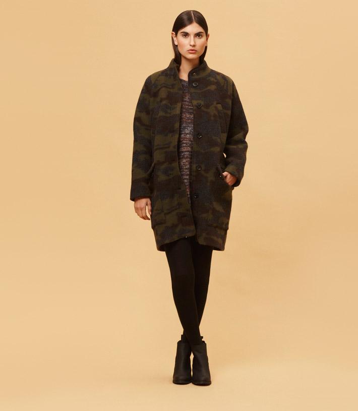 Libertine Libertine dámský maskáčový teplý kabát