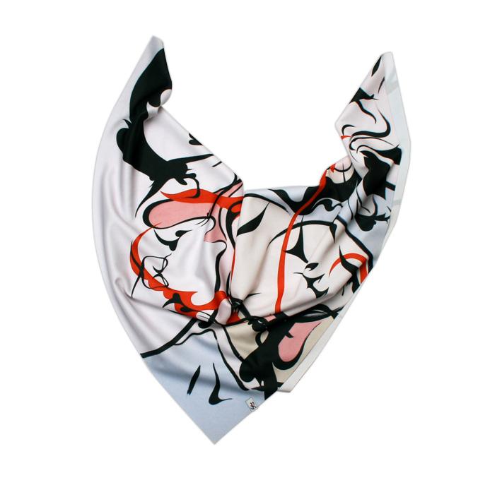 Retart šátek na krk, graphic scarf, Barth