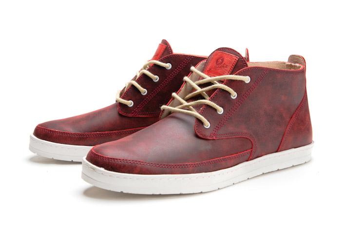 Splendix Shoes kotníkové boty tmavě červené, kožené, pro muže