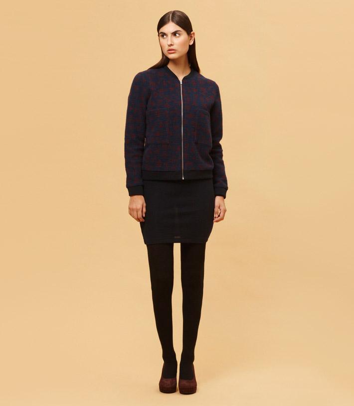 Libertine Libertine dámská krátká mikina na zip, černá sukně