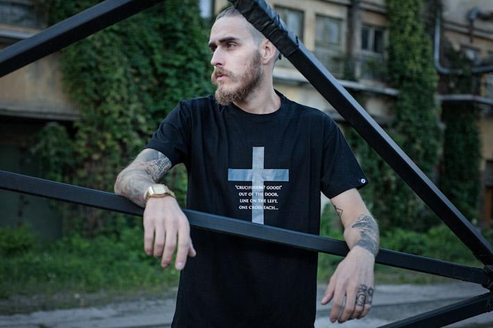 Youngprimitive černé tričko spotiskem, pánské