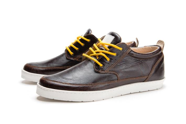 Splendix Shoes tmavě hnědé kožené boty, pánské