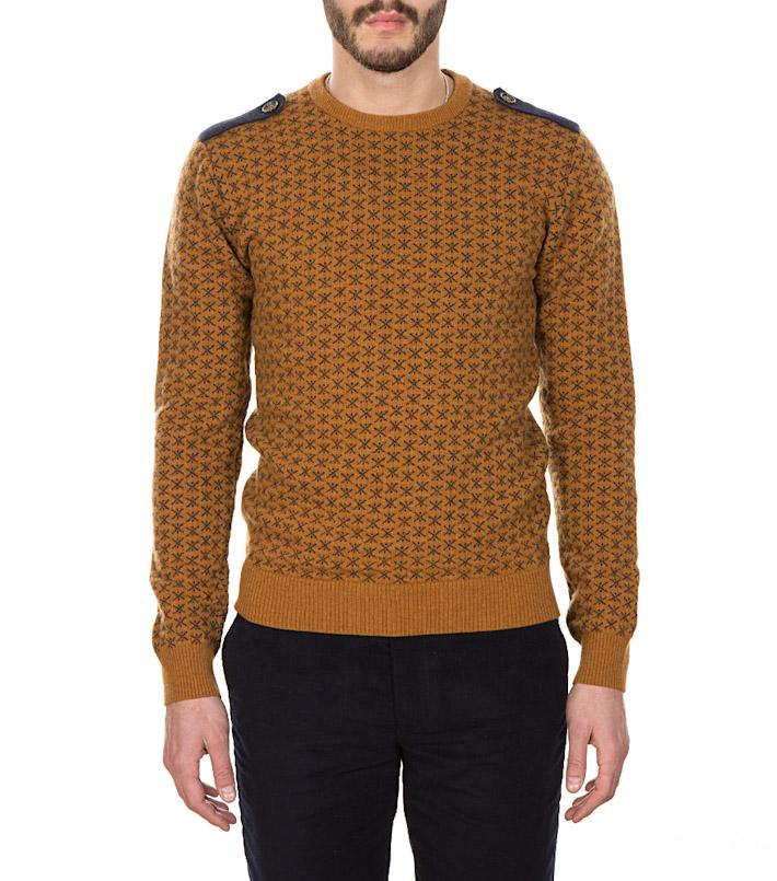 Commune de Paris pánský hnědý pletený svetr