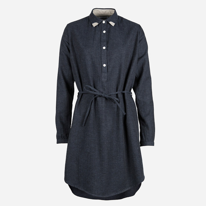 Frisur tmavě šedé dámské šaty podzimní