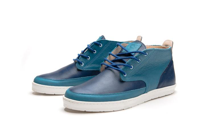 Splendix Shoes pánské kotníkové boty, modré, kožené
