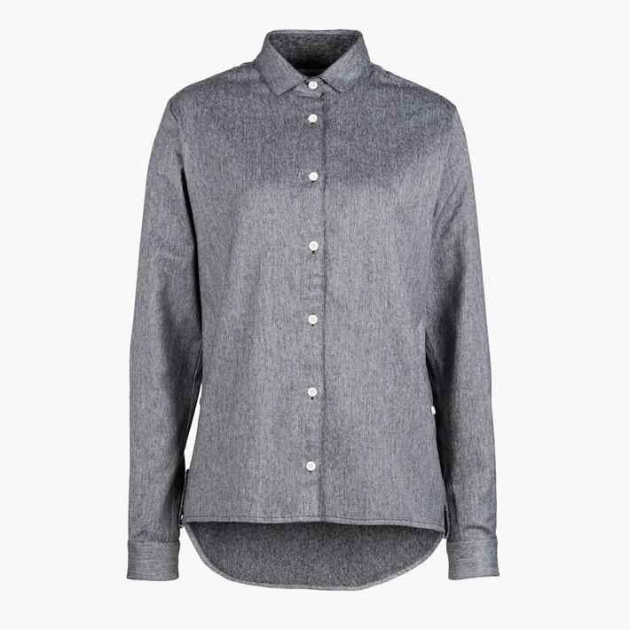 Frisur šedá teplá košile, dámská, dlouhý rukáv