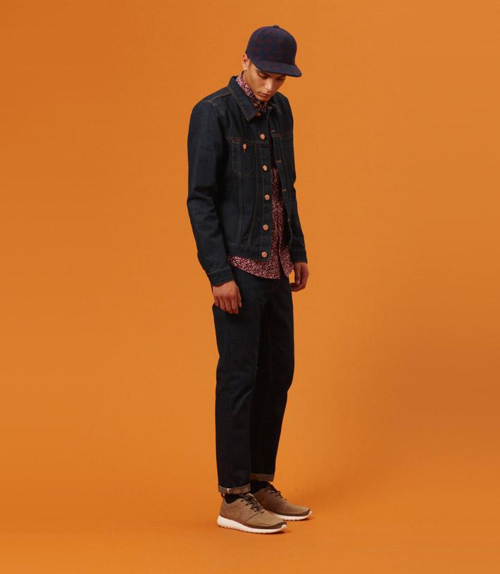 Libertine Libertine pánská temně modrá jenas bunda, černé kalhoty