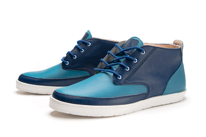 Splendix Shoes kožené kotníkové boty, modré, pánské