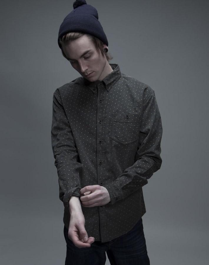 Volklore tečkovaná košile, pánská