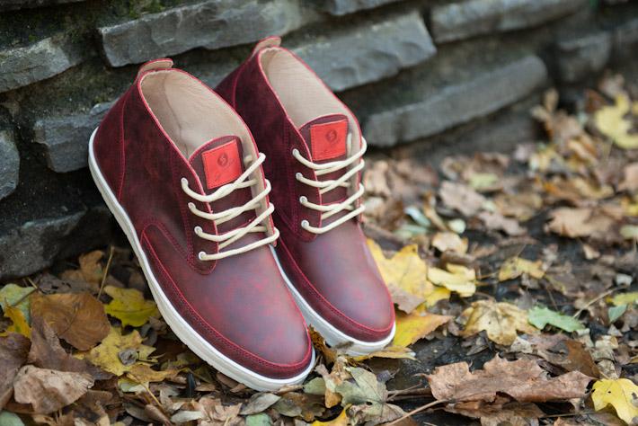 Splendix Shoes pánské kotníkové boty, tmavě červené, kožené
