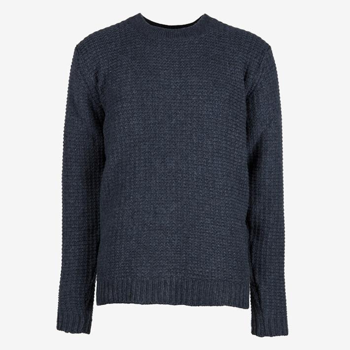 Frisur modrý pletený svetr