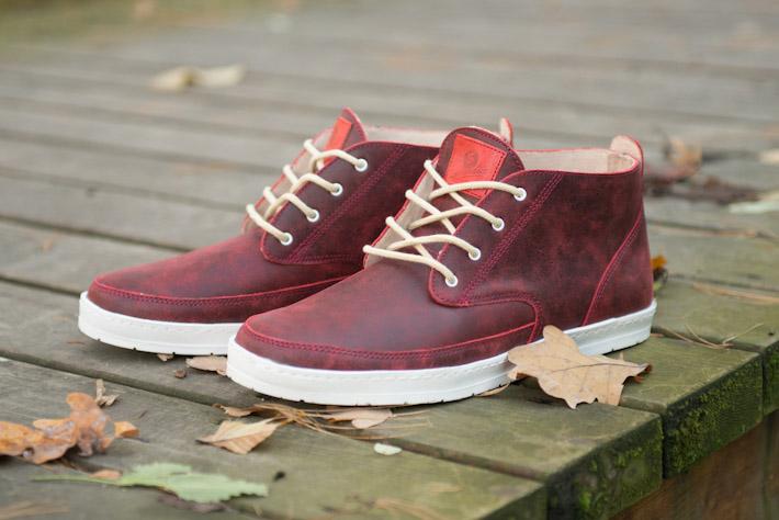 Splendix Shoes kotníkové boty, tmavě červené, kožené, pánské