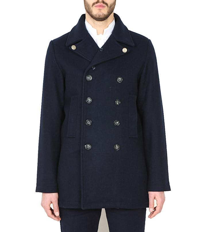 Commune de Paris tmavě modrý kabát pánský