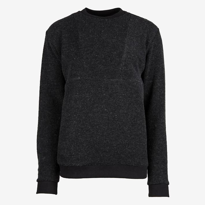 Frisur černý pánský svetr