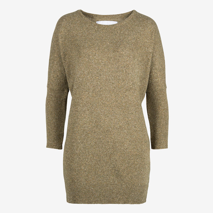 Frisur dámský dlouhý pletený svetr pod zadek