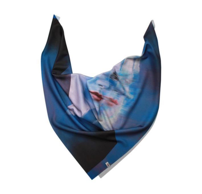 Retart šátek na krk, graphic scarf, Sirka