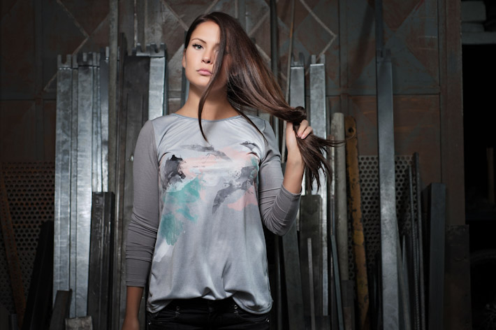 Youngprimitive šedé tričko Pastel spotiskem, dámské