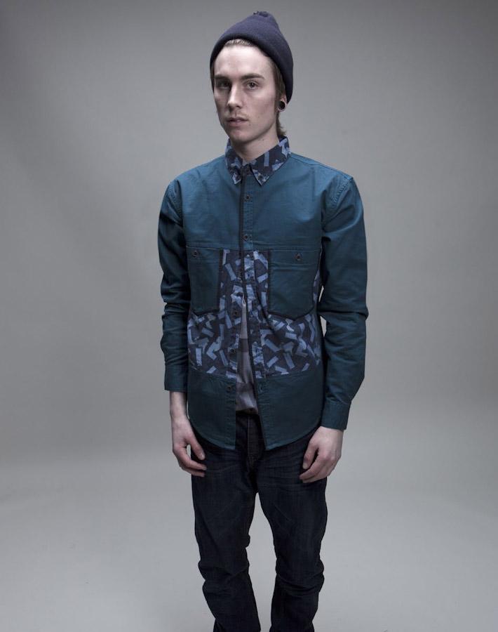 Volklore pánská zelená košile, dlouhý rukáv