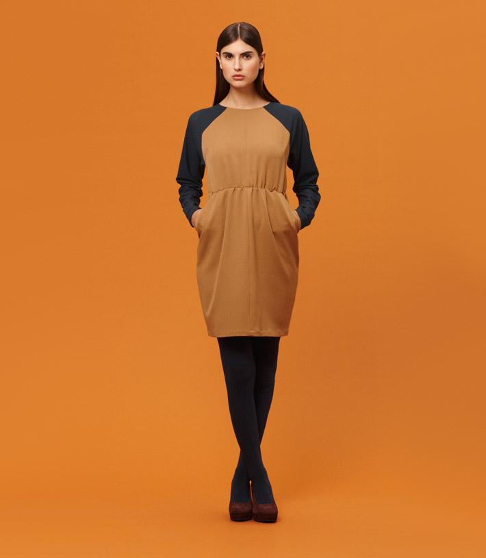 Libertine Libertine dámské hnědo modré šaty