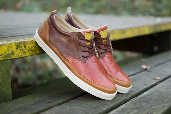 Splendix Shoes nízké pánské kožené boty, tenisky, hnědé