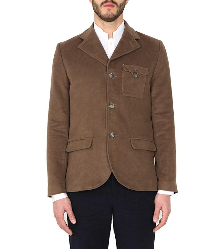 Commune de Paris pánský krátký kabát hnědý