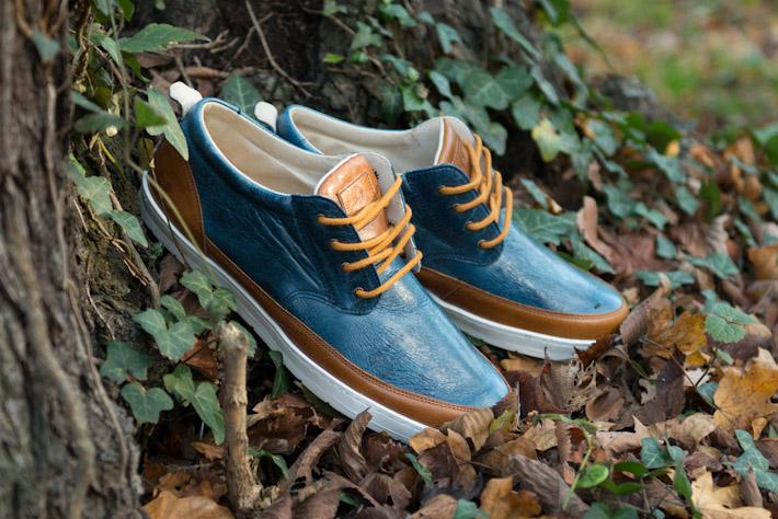 Splendix Shoes pánská obuv, kožené boty, modro hnědé