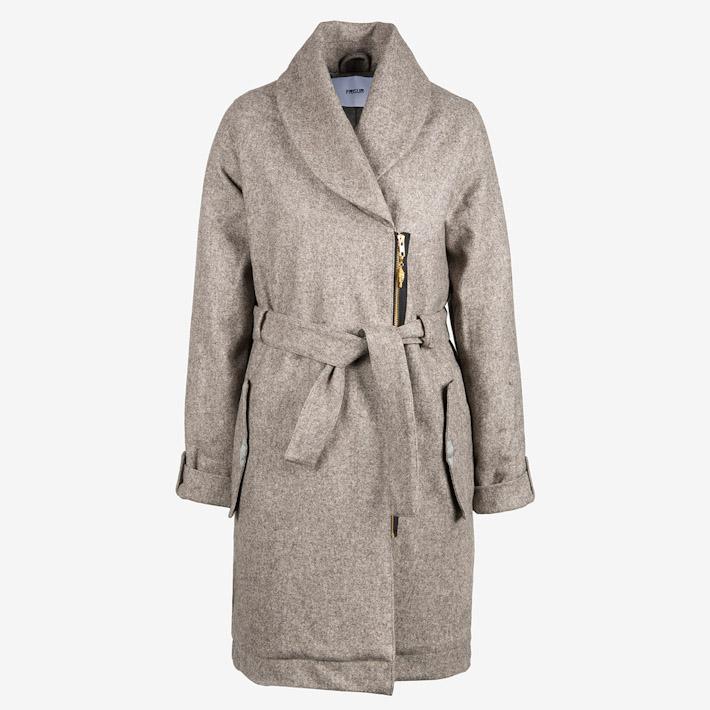 Frisur dámský teplý dlouhý kabát