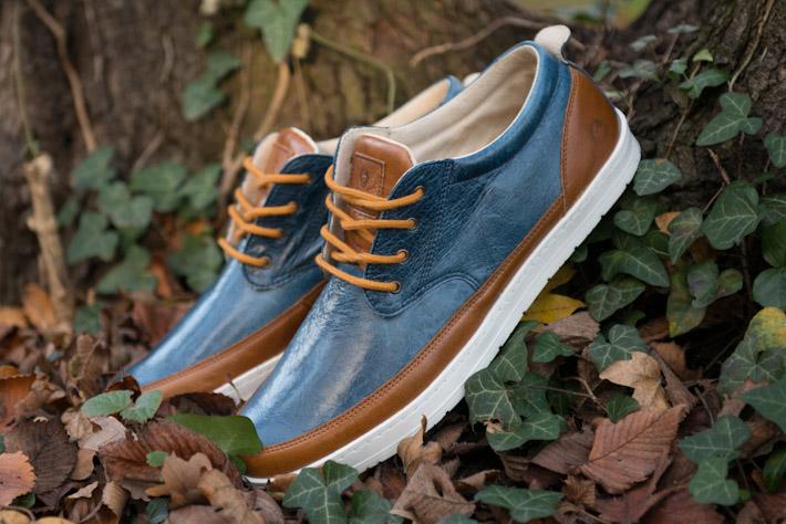 Splendix Shoes kožené boty, pánské, modro hnědé