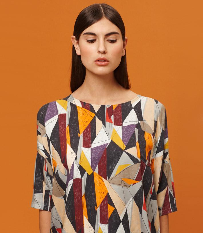 Libertine Libertine barevné šaty, geometrický vzor