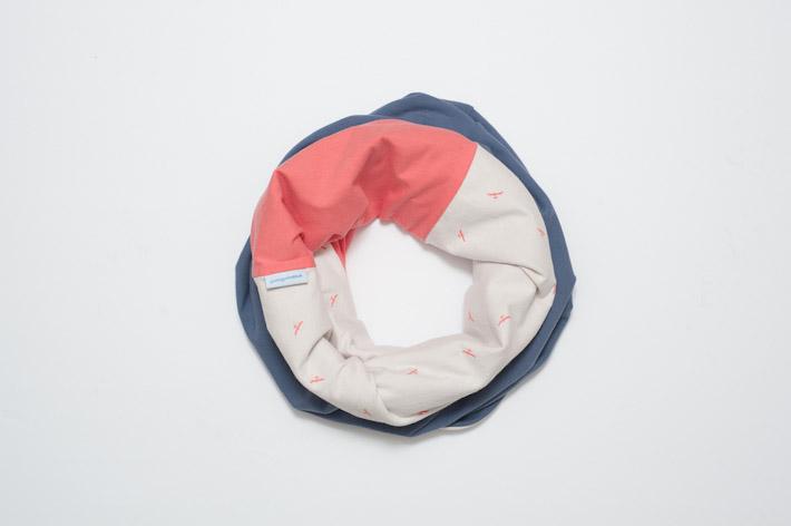 Youngprimitive Teplý Bedřich doplněk ke krku, modro-červeno-bílý