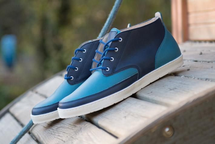 Splendix Shoes modré kotníkové boty zkůže