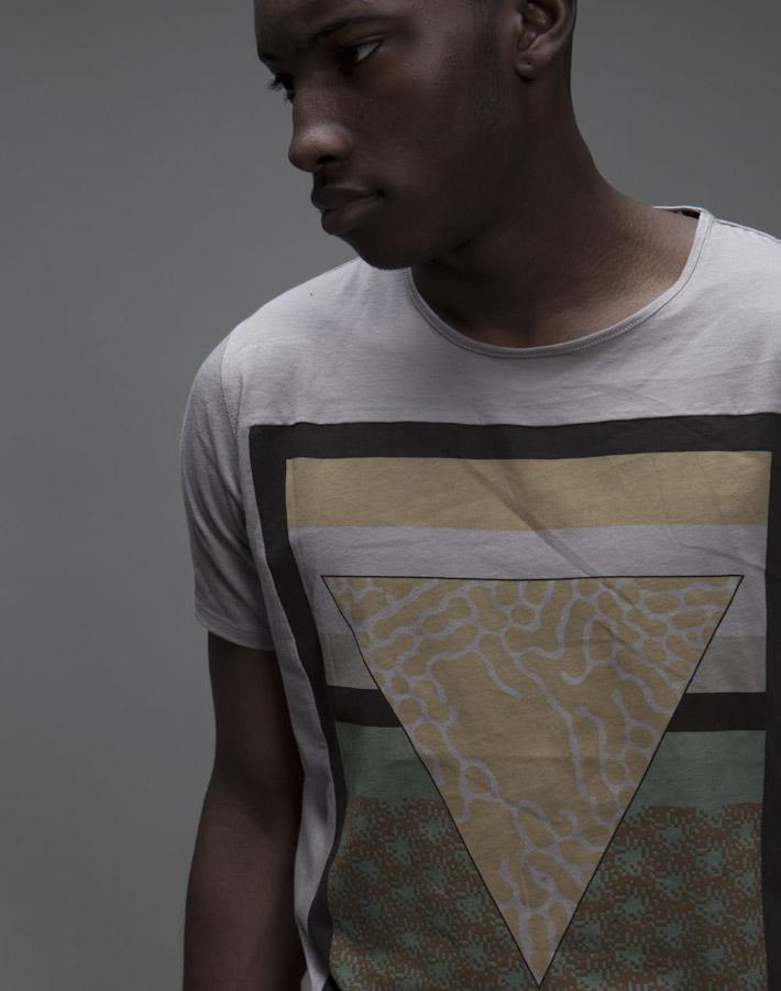 Volklore pánské tričko spotiskem, geometrie