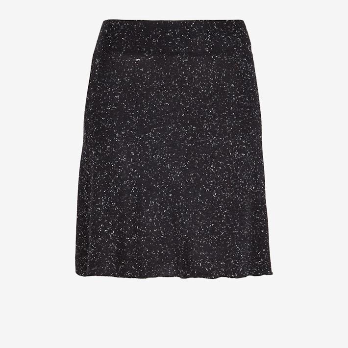 Frisur černá teplá sukně, tečkovaná, dámská