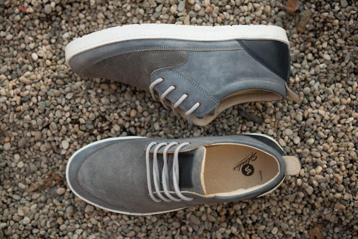 Splendix Shoes kožené šedé boty pro muže, tenisky