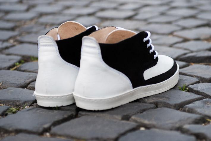 Splendix Shoes pánská obuv, kotníkové boty, bílo-černé, kožené