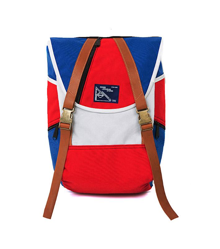 Commune de Paris červeno-modrý batoh na záda