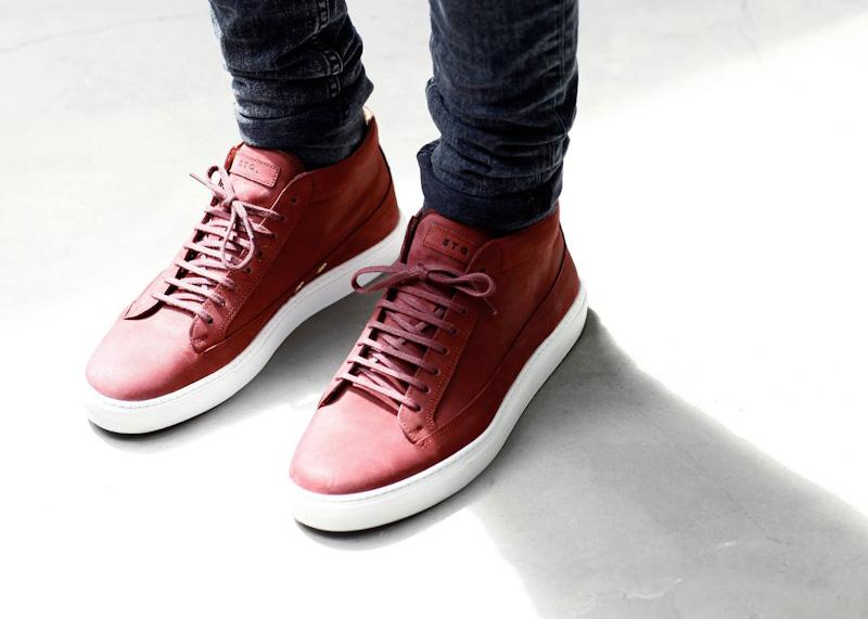 ETQ Amsterdam luxusní kotníkové boty červené